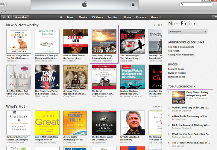 deep sleep iTunes bestseller